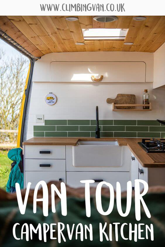 van tour campervan kitchen