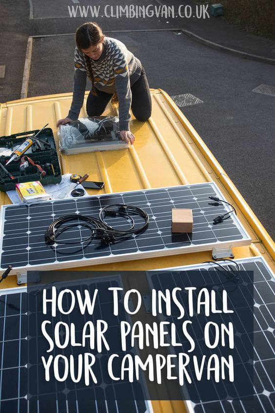 how to install solar panels on your campervan