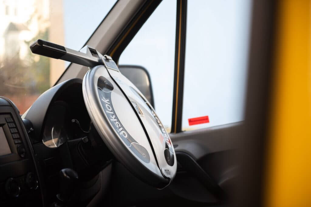 steering wheel lock campervan security ideas